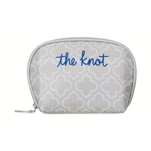 Mia Cosmetic Bag Light Grey Moroccan Pattern