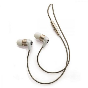 Brookstone Ceramic Earbuds White/Gold
