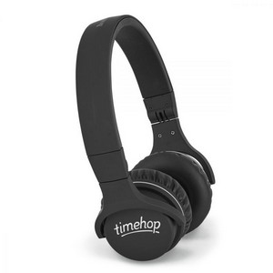 Brookstone  Bluetooth Compact Wireless Headphones Black