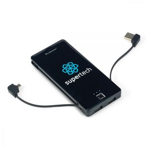 Brookstone Dart Power Bank - 5000 mAh Black