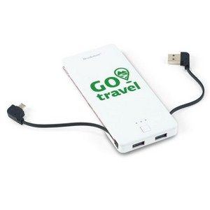 Brookstone Dart Power Bank - 5000 mAh White