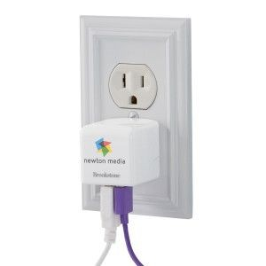 Brookstone 3.4A Travel USB Charger White