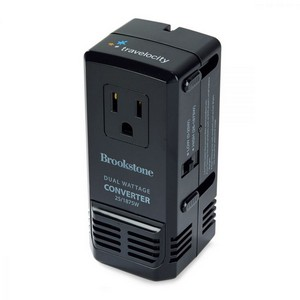 Brookstone Global Power Converter Black