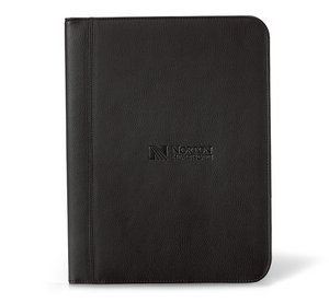Cityscape Leather Writing Pad - Black