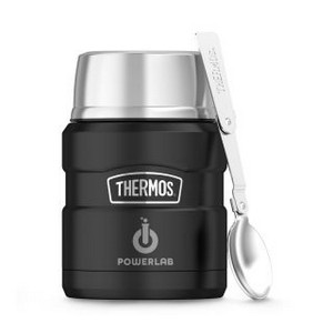 Thermos Stainless King Food Jar with Spoon - 16 Oz. Matte Black