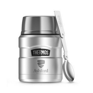 Thermos Stainless King Food Jar with Spoon - 16 Oz. Stainless S