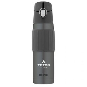 Thermos® Hydration Bottle with Rubber Grip - 18 Oz. Charcoal