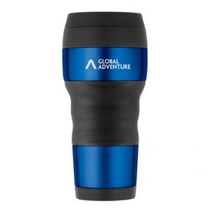 ThermoCafe by Thermos Travel Tumbler with Grip - 16 Oz. Blue