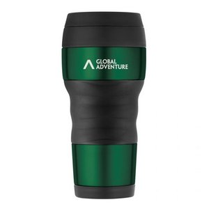 ThermoCafe by Thermos Travel Tumbler with Grip - 16 Oz. Green