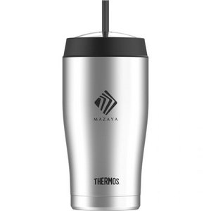Thermos® Cold Cup with Straw - 22 Oz. Stainless Steel