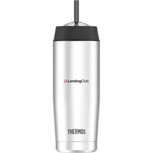 Thermos® Cold Cup with Straw -16 Oz. Stainless Steel