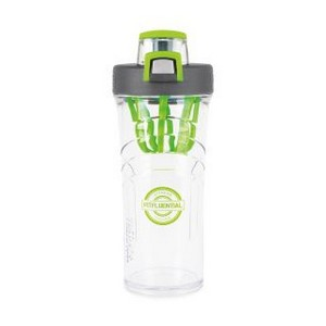 Thermos Shaker Bottle with Integrated Mixer - 24 Oz. Charcoal wi