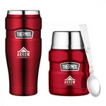 Thermos Stainless King Travel Gift Set Cranberry