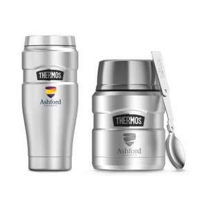 Thermos Stainless King Travel Gift Set Stainless Steel