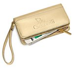 Lexi Leather Wristlet Womens Wallet Metallic Gold