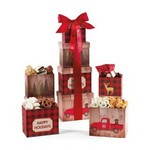Plaid Tidings Holiday Sweets & Treats Gourmet Tower Red Buffalo P