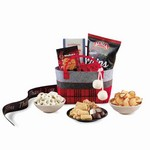 Cozy Holiday Treats Tote Red Black and Charcoal Plaid