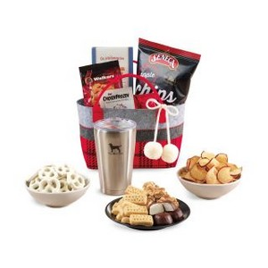 Cozy Holiday Treats Tote with Aviana  Vale Tumbler Red Black and