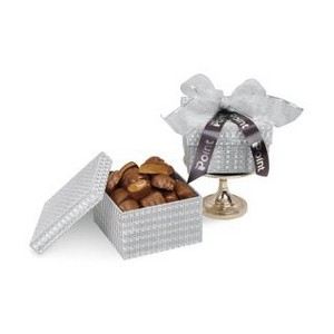 Sparkling Almond Butter Toffee Gift Box Silver Shimmer Pattern