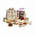 Naturally Delicious Gourmet Basket Tower Natural Seagrass Pattern