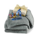 Sweet Serenity Throw Artisan Truffles Grey-Sparkling White and Custom Logo Blanket