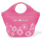 Ella Neoprene Cooler - Deep pink/light pink pattern