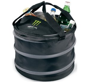 Collapsible Party Cooler - Black/ Grey