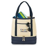 Coastal Cotton Insulated Tote Navy Blue/Natural