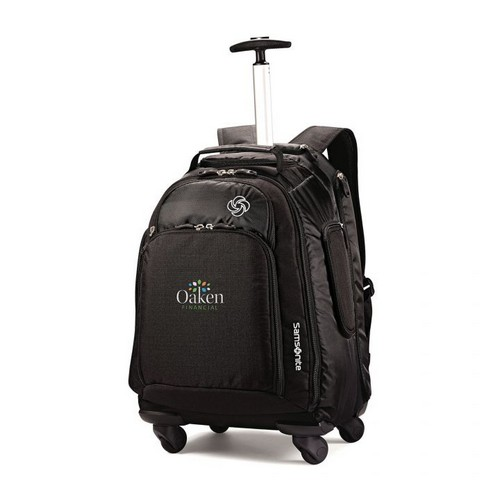 Samsonite MVS Spinner Backpack Black Custom travel bag