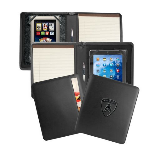 Zip-Around Custom Leather Writing and iPad Holder custom leather briefcase