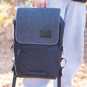 Barrow Backpack with Wool Accents and Multiple Pockets