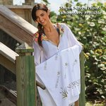 Small White Beach Towel -Embroidered