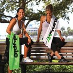Thirsty White Fitness Towel with CleenFreek