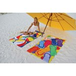 Fiber Reactive Color Beach Towel - Beach Ball Towel