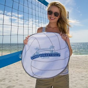 Volleyball Shaped Sport Towel (Screen Print) - Stock Design