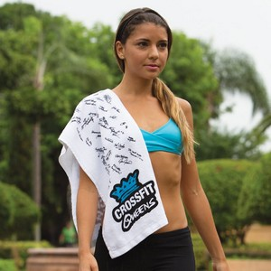 White Fitness Towel with CleenFreek white Signature