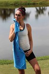 White Fitness Towel with CleenFreek Colors