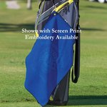 Microfiber Waffle Golf Towel -Embroidered