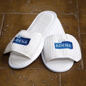 Waffle Weave Spa Slippers