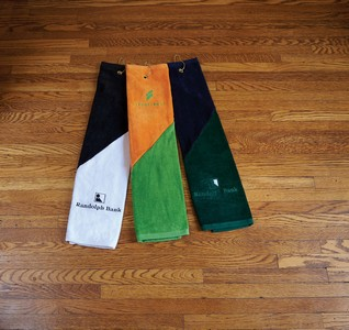 Two Tone Heavyweight Golf Towel