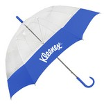 The Clear Canopy Bubble Fashion Umbrella with Fabric Border