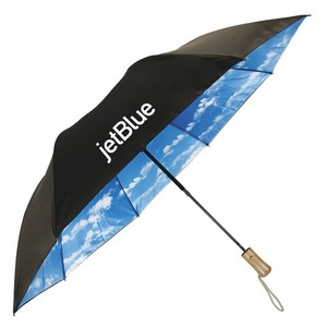 The Blue Sky & Rainbow Folding Auto-Open Umbrella