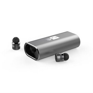 UL Classic Aluminum 2 in 1 Bluetooth Earbuds with 200mAh Power Ba