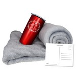 Fleece Blanket & Tumbler Combo Set