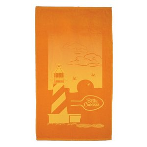 Lighthouse Tone on Tone Velour Beach Towel 14 lb