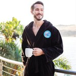 Terry Velour Hooded Robe (Color Embroidered)