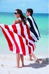 Horizontal Cabana Stripe Custom Beach Towels