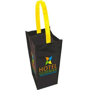 Laminated Non-Woven 1 Bottle Wine Tote Bag
