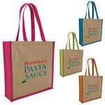 Jute Portrait Tote Bag