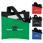 Angled Pocket Non Woven Tote Bag
